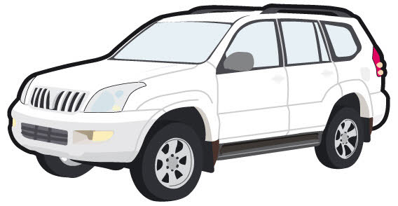 Red clipart suv #2