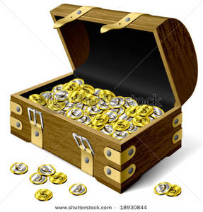 Coin clipart silver and gold Chest Coins In Treasure Treasure