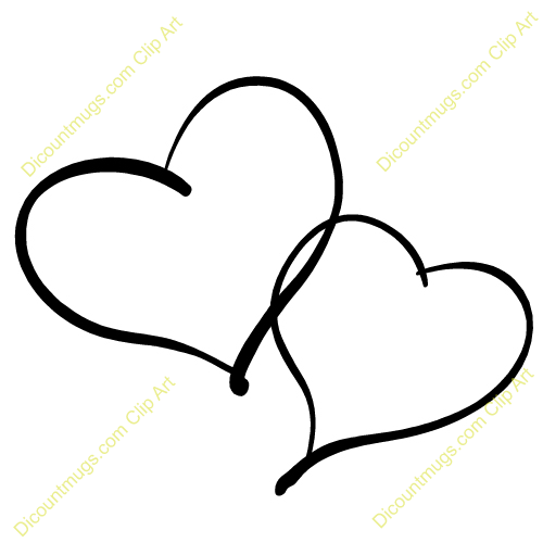 Hearts clipart two heart Silver double clipart Hearts