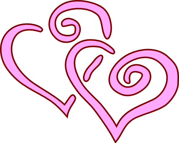 Hearts clipart two heart Pink  and Wedding Hearts