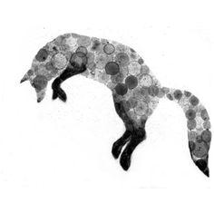 Silver Fox clipart Round Google Art Silhouette Clip