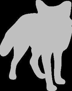 Silver Fox clipart Art royalty vector online Clker