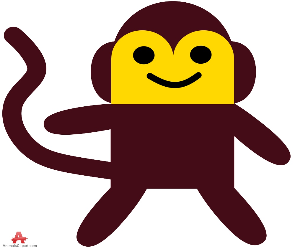 Simple clipart Design Happy Monkey Happy Clipart