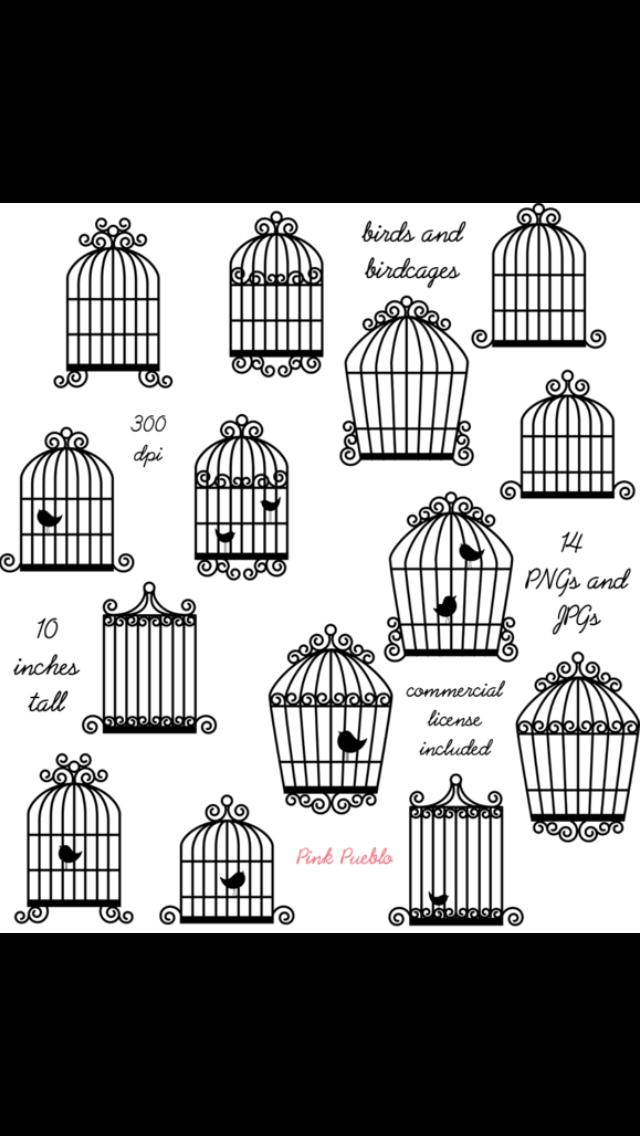 Simple clipart bird cage Tattoo Cage  Bird Bird