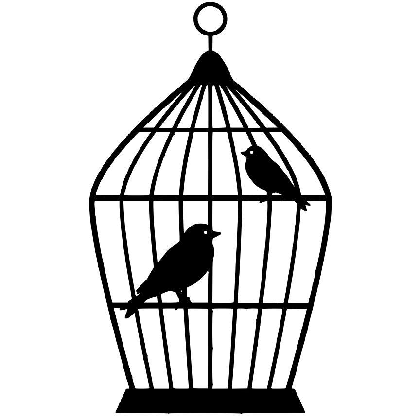 Simple clipart bird cage Bird photo#4 Bird art cage