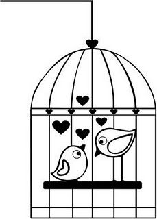 Simple clipart bird cage On more  – Free
