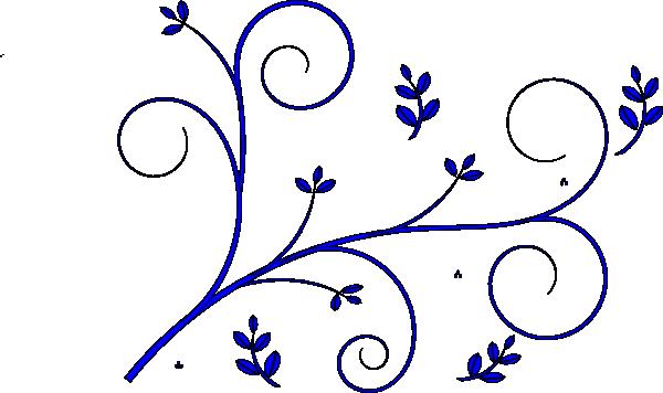 Simple clipart blue flower #8