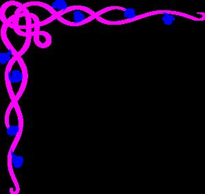 Simple clipart blue flower #7