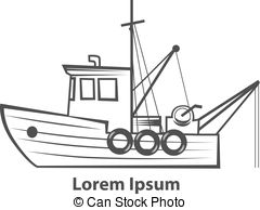Simple clipart boat #15