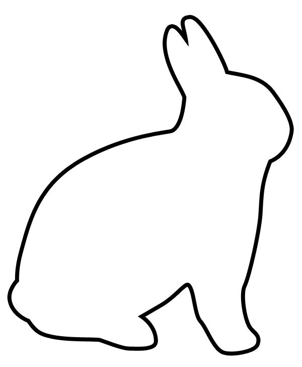 Simple clipart bunny #13