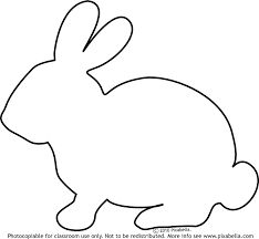 Simple clipart bunny #14
