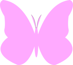 Simple clipart butterfly #11