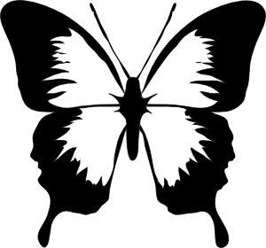 Simple clipart butterfly #6
