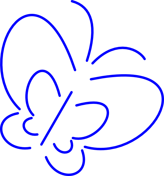Simple clipart butterfly #8