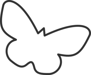 Simple clipart butterfly #4