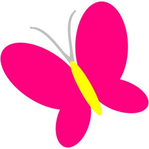Simple clipart butterfly #9