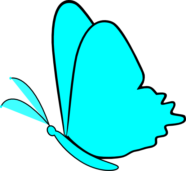 Simple clipart butterfly #5