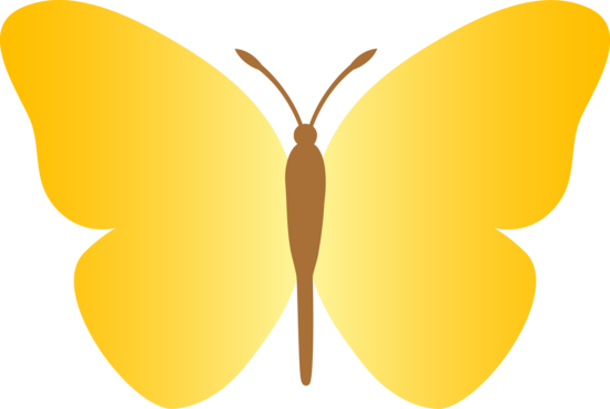 Simple clipart butterfly #7