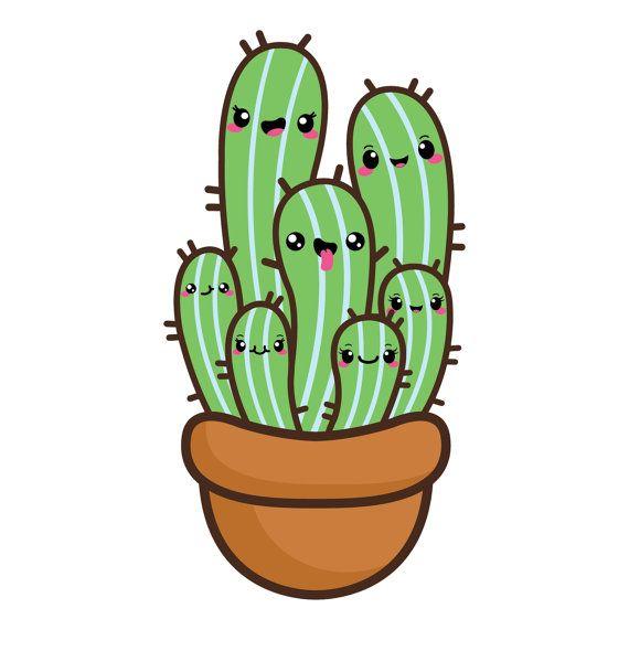Simple clipart cactus #8