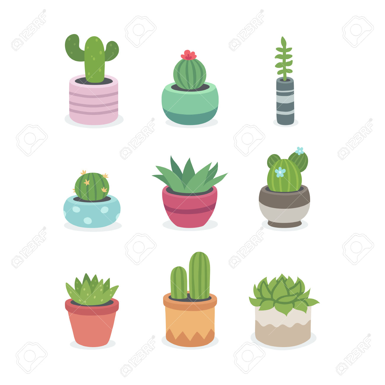 Simple clipart cactus #13