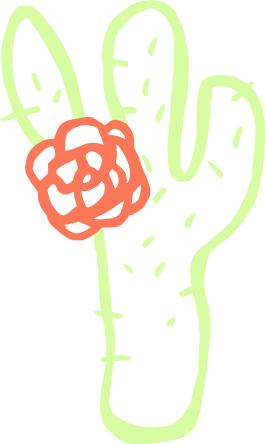 Simple clipart cactus #7