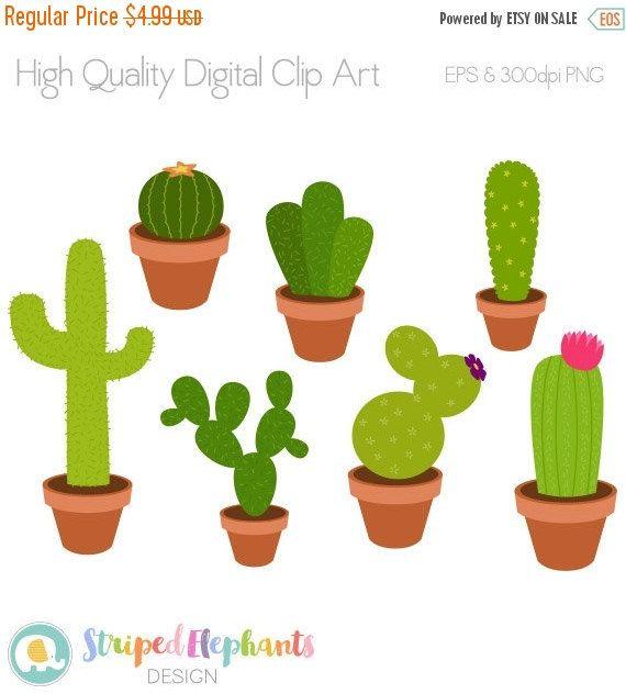 Simple clipart cactus #9