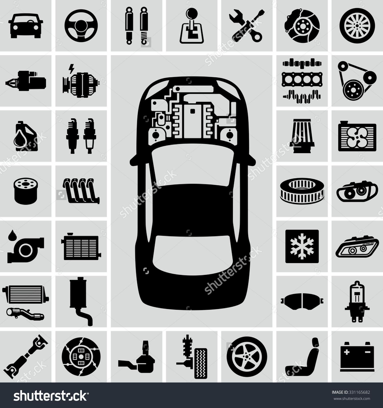 Simple clipart car engine #10