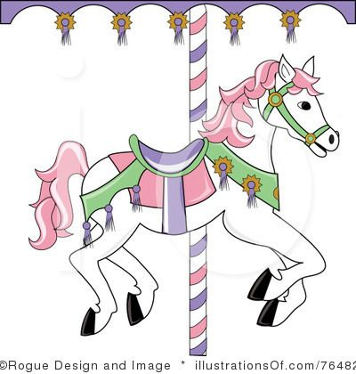Simple clipart carousel Free Royalty illustrations 77 horse