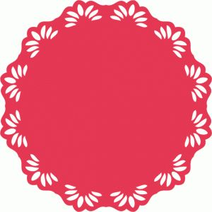 Simple clipart doily Images Pinterest Silhouette Store: on