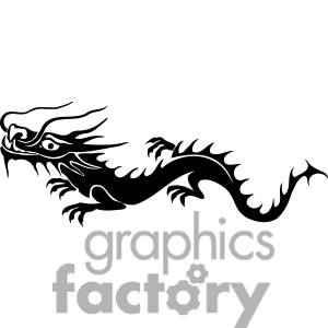 Chinese Dragon clipart easy Simple Clipart Chinese Dragon