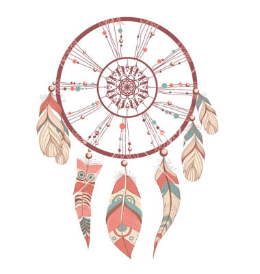 Dreamcatcher clipart basic Drawing  by on VectorStock®
