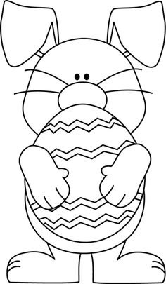 White clipart easter bunny Religious easter And black Bunny