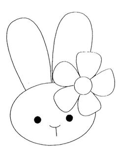 Simple clipart easter bunny #14