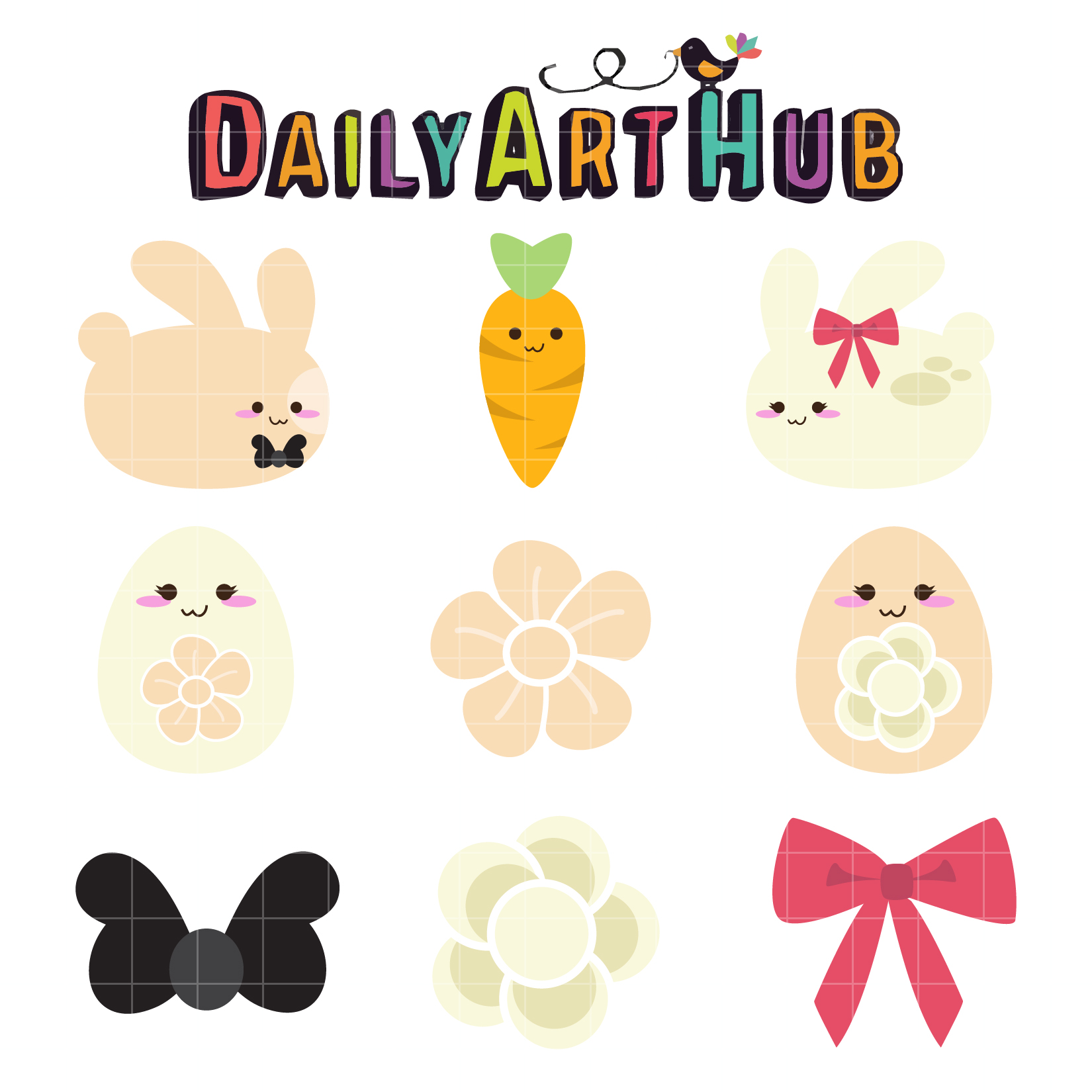 Simple clipart easter bunny #15