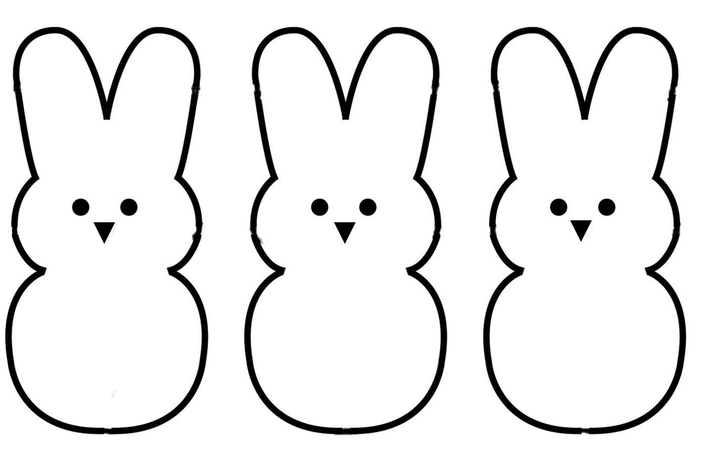 Simple clipart easter bunny #7