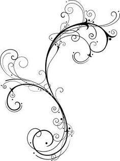 Simple clipart filigree Art Search Designs vine clip