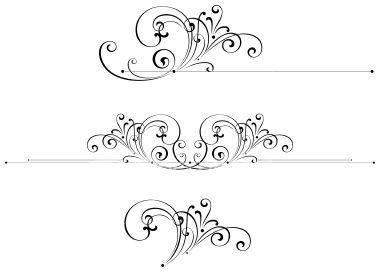 Simple clipart filigree Vector art Scroll Free Stock