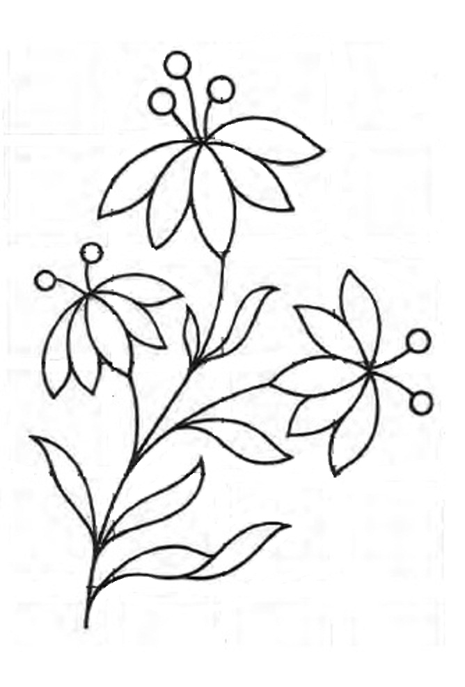 Simple clipart floral design #15