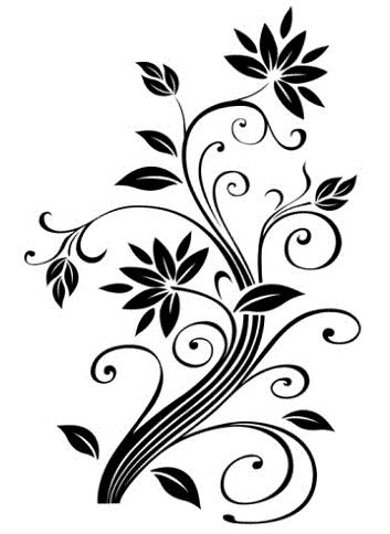 Simple clipart floral design #14