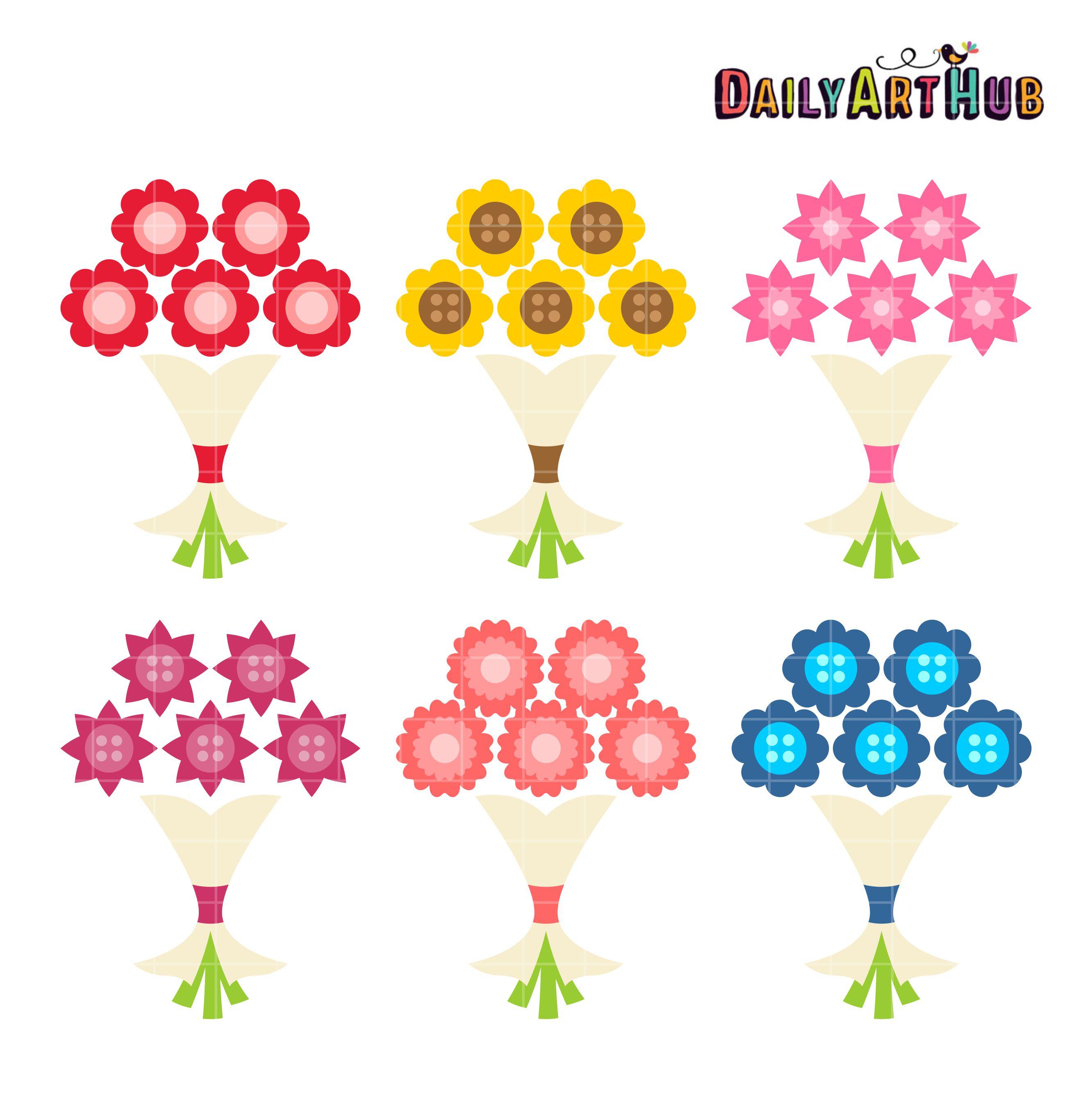 Simple clipart flower bouquet Daily Clip Flower Simple Art