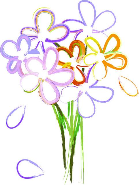 Simple clipart flower bouquet Clip clipart Flower image ClipartMonk