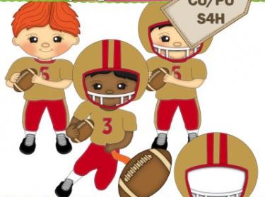 Football clipart kid football Players Meylah Football Red Clipart