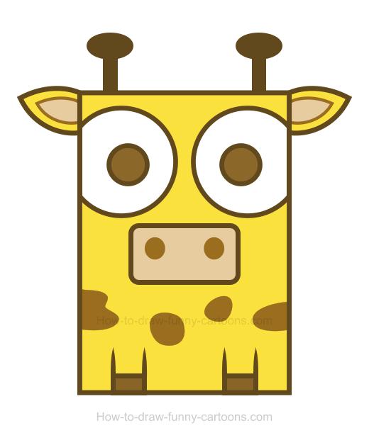 Simple clipart giraffe #14