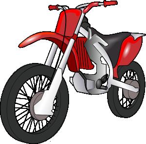 Simple clipart motorbike #12