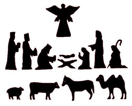 Angel clipart nativity scene Silhouette Nativity free Patterns patterns