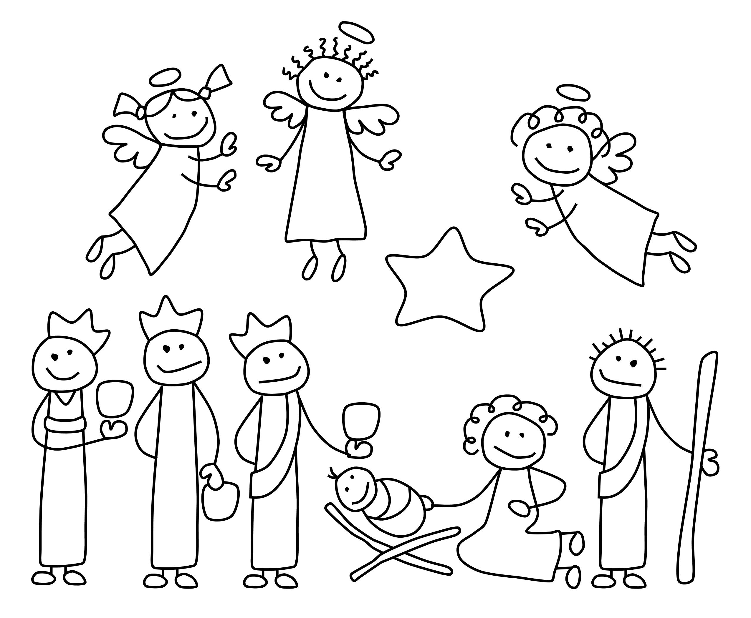 Angel clipart nativity scene · content/ Google Christmas for