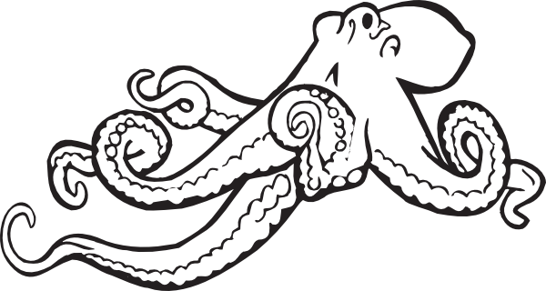 Simple clipart octopus #10