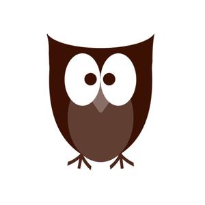 Simple clipart owl Shape clip Clker at Shape