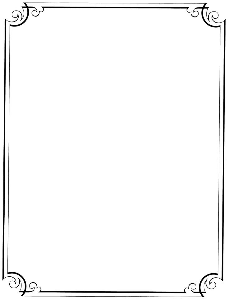 Simple clipart picture frame #15
