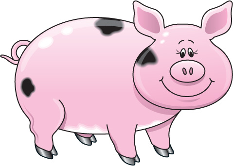 Simple clipart pig #15